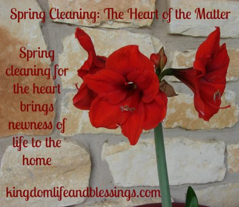 Spring Cleaning: The Heart of the Matter